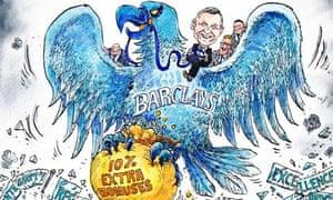 David Simonds cartoon Feb 2014 on Barclays bonus furore