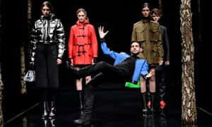 Dynamo performs at the Hunter boots show during London fashion week.