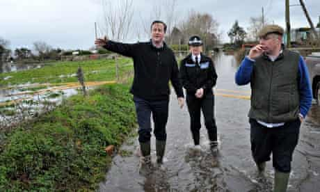 David Cameron flood