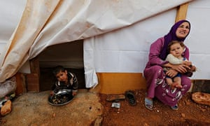 A Syrian woman at a refugee camp in Bekaa valley Lebanon