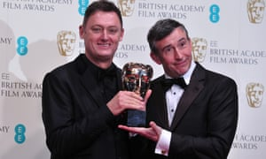 Steve Coogan after he presented Jeff Pope with the award for an adapted screenplay for 'Philomena'.