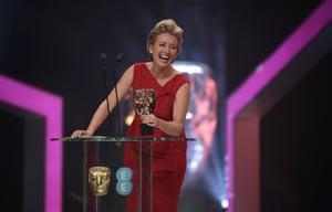 Emma Thompson presenting an award.