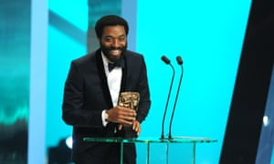 Chiwetel Ejiofor collecting his award for best actor.