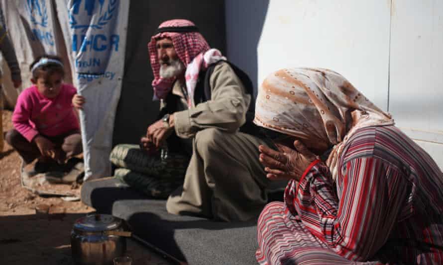 Syrian refugees at Zaatari Refugee Camp near the Syrian border, in Mafraq, Jordan.