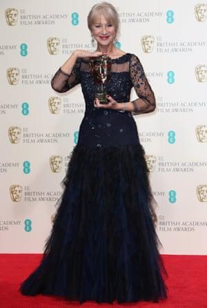 Helen Mirren with her award