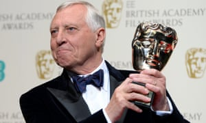 Peter Greenaway after receiving the Outstanding Contribution award.