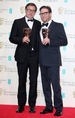 David O'Russell and Eric Warrensinger winners of the Original Screenplay award for 'American Hustle'.
