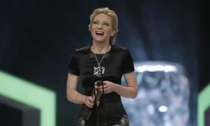Cate Blanchett, who dedicated her award to Philip Seymour Hoffman.