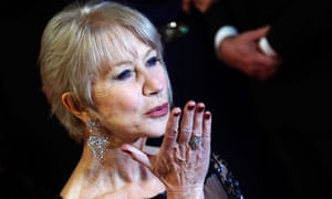Helen Mirren, not quoting but kissing.