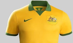 aca88c9d2 The new Socceroos kit for the 2014 World Cup (you ll have to take our word  for it that there are white socks). Photograph  Public Domain