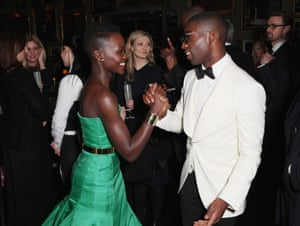 Lupita Nyong'o and Tinie Tempah attend Entertainment One's BAFTA after party.