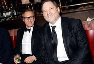 Christoph Waltz and Harvey Weinstein.