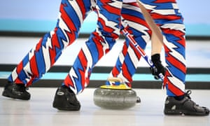 Lightning: Norway's curling team in action during the round robin match against China.