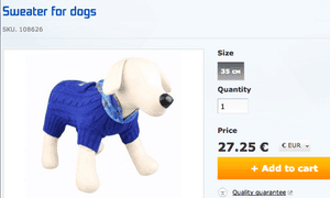 Official Sochi 2014 sweater for dogs