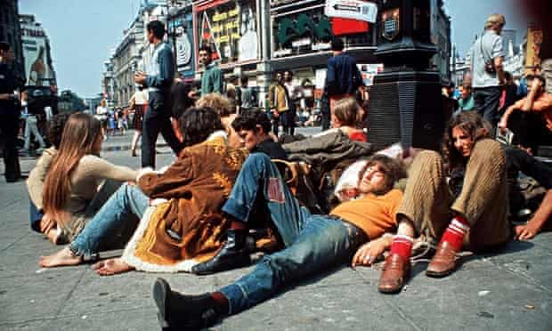 Young people Piccadilly Circus 1969