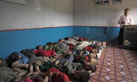 Malnourished children in North Korea