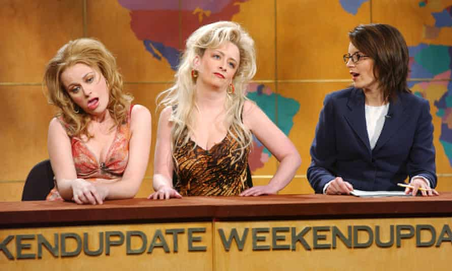 Amy Poehler as Coast Guard Carrie, Rachel Dratch as Vidalis, and Tina Fey on Weekend Update. saturday night live