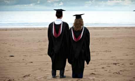 A Male and female graduate