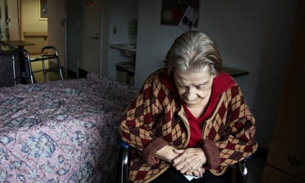 Governments don't care about lonely old people (posed by model) …
