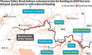 Thames Valley flood defence cuts