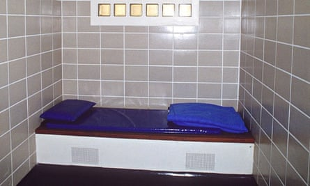 A police cell in London.
