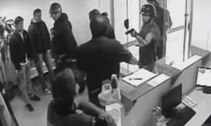 Security forces raid the office of the Popular Will party in Caracas.