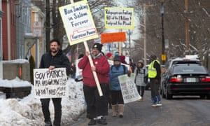 Massachusetts environmentalists converged on the city of Salem to demand an end to fossil fuel use.
