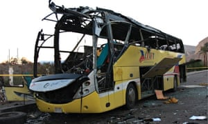Egypt bus bomb attack in Sinai