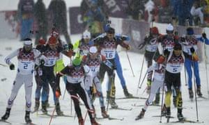 Men's biathlon 15km mass start