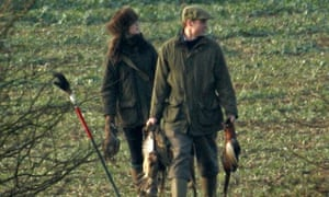 Prince William and Kate Middleton on a pheasant shoot
