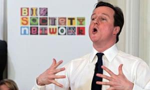 Prime minister David Cameron at a Big Society event