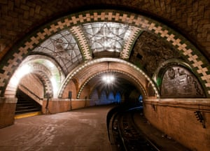 In a disused subway station in New York City.