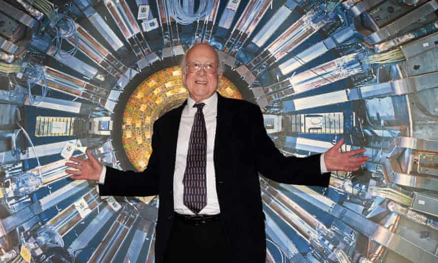 Nobel laureate Peter Higgs poses for photographs during the opening of the Large Hadron Collider exhibition at Science Museum in London, 12 November 2013.