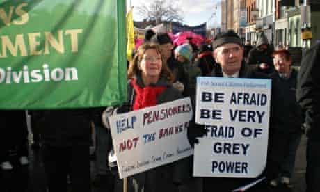 older people demonstrate