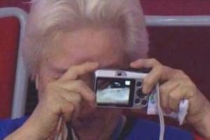 Granny takes unintentional selfie