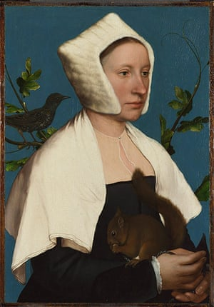 Strange Beauty: A Lady with a Squirrel and a Starling