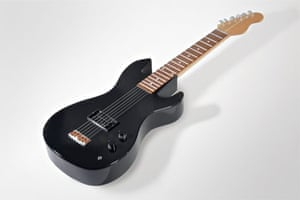 Guitar coffin from Crazy Coffins.
