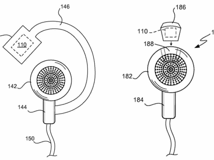 Apple fitness-tracking earphone