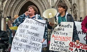 Disabled Activists in London Court Vigil over Work Assessments