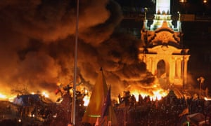 Protesters gather in Independence Square in Kiev