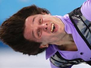 Alexei Bychenko of Israel competes in the men's short program figure skating competition.