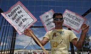 asylum seeker protest