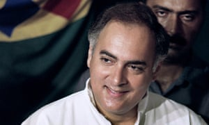 Rajiv Gandhi in 1991. All seven people convicted of his assassination are to be freed.