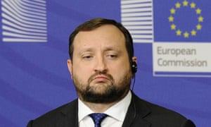Ukraine's acting prime minister Serhiy Arbuzov after a meeting with the EU officials in December.