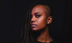 Singer Kelela backstage at the Fader Fort 2013