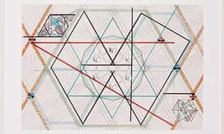 Monir Shahroudy Farmanfarmain's Geometric design with mirror (2000).