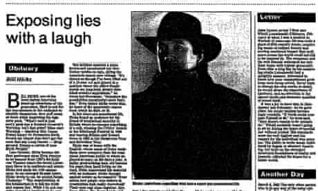 Bill Hicks obituary cropped, Guardian 9 March 1994