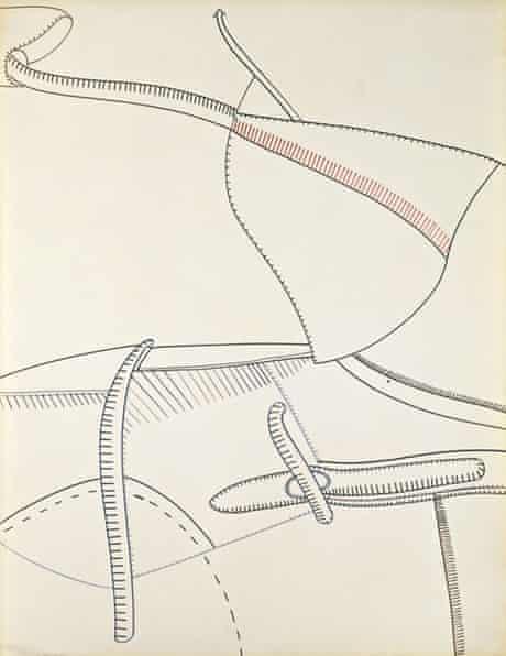 Eva Hesse's untitled 1965 ink on paper