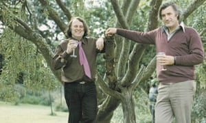 Michael Baldwin, who helped to set up the Arvon Foundation, pictured with the poet Ted Hughes