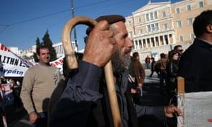 More protesting farmers. Photo: AP/Petros Giannakouris